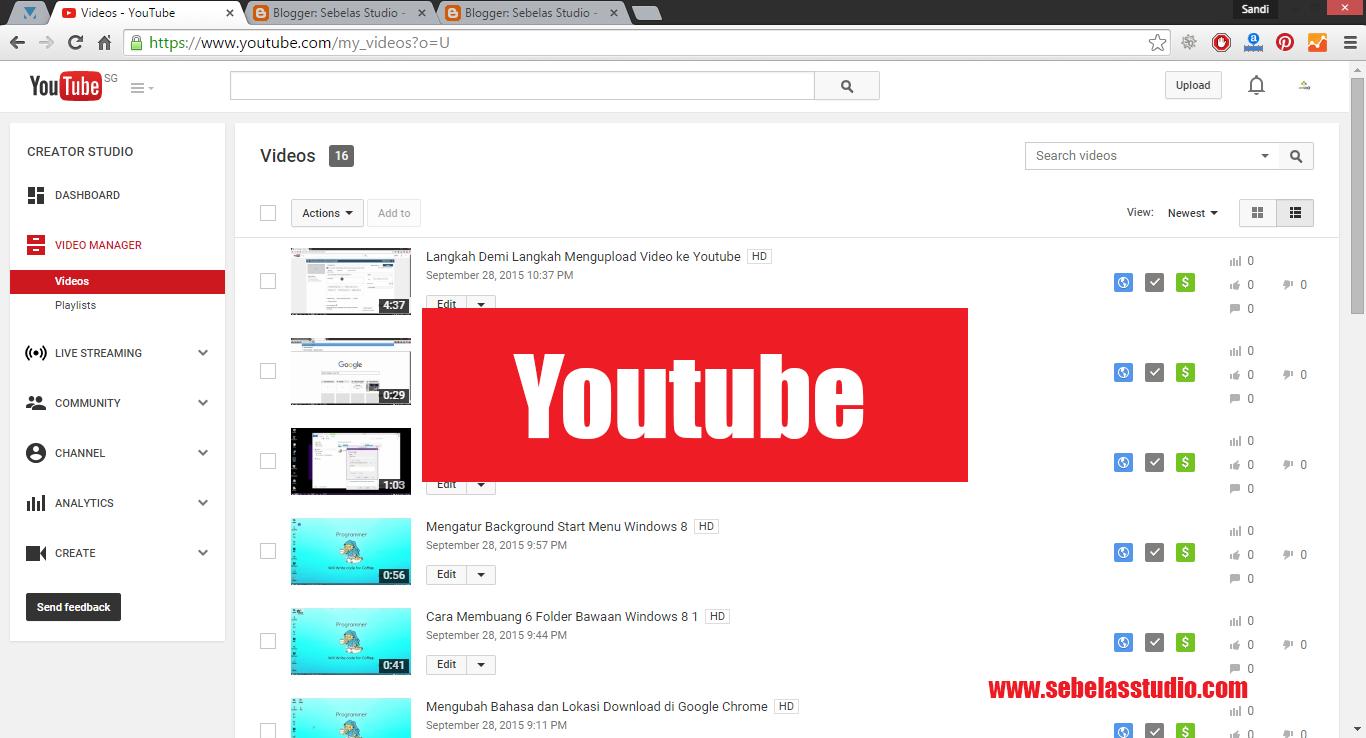 Step by Step Mengupload Video ke Youtube