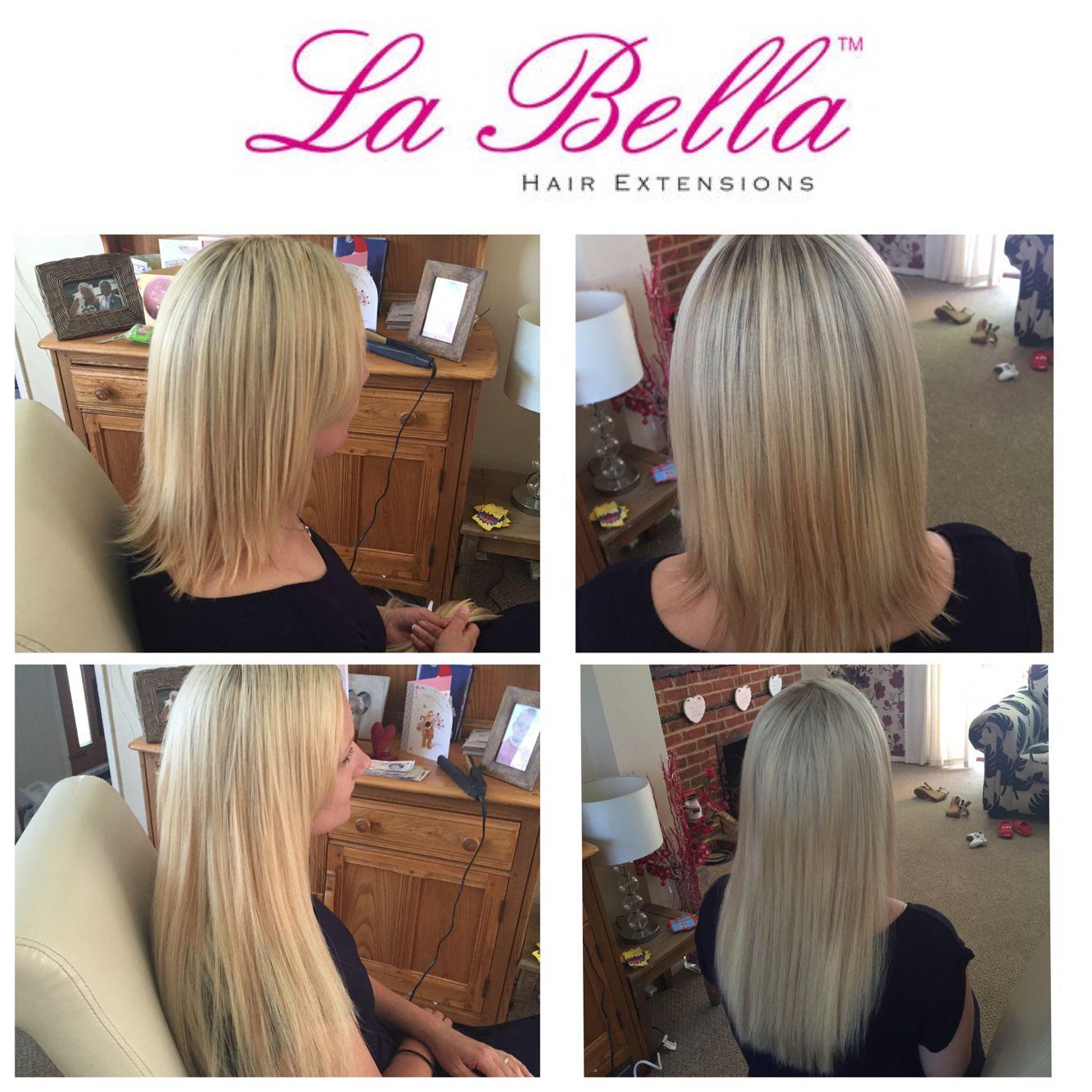 Full Head 14 European Hand Made La Bella Nano Tip Hair Extensions