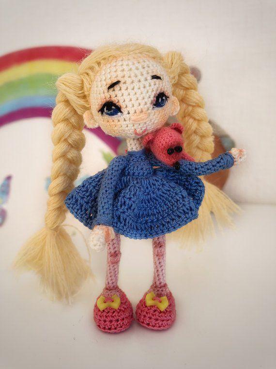 Tiny mini Boy Doll pattern by Nada Crochet | Boy doll, Amigurumi doll,  Knitted teddy bear | 760x570
