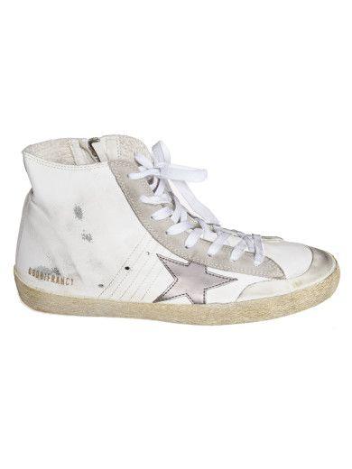 GOLDEN GOOSE Golden Goose Francy Hi-Top Sneakers. #goldengoose #shoes #sneakers