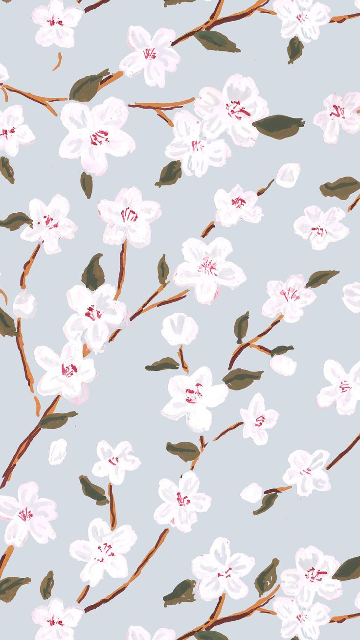Floral Wrapping Paper - Cherry Blossoms gift wrap, spring gift wrap, cute wrapping paper, Easter gift wrap, flowers wrapping paper