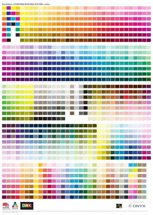 Pantone Pantone Color Chart Color Mixing Chart Pantone