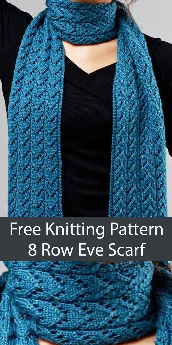 Photo of Free Knitting Pattern for 8 Row Repeat Eve Scarf