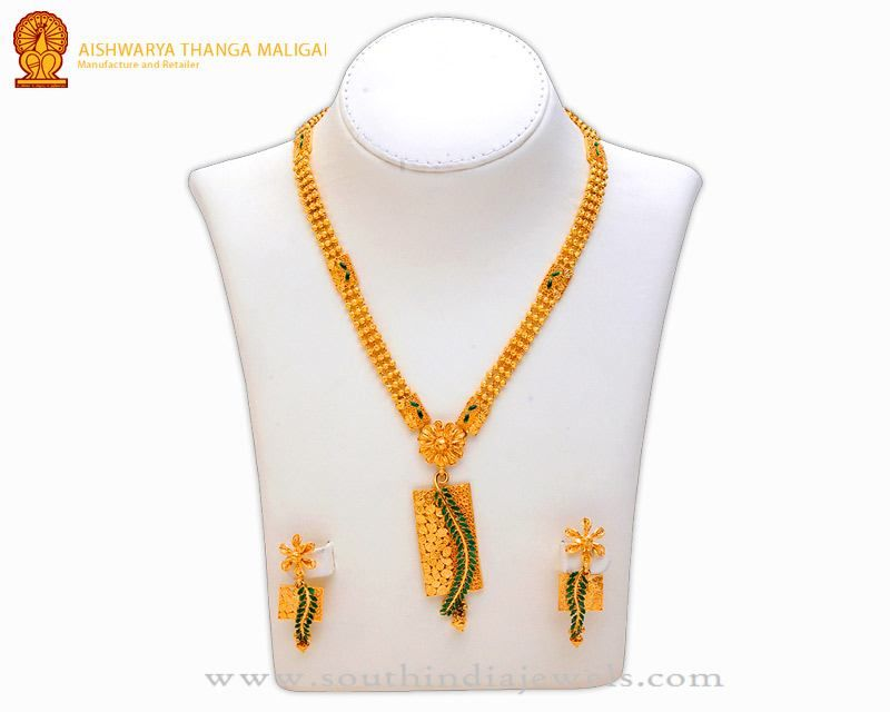 Gold Necklace without Stones | Gold necklaces, Stone and Designers
