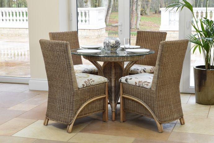 Waterford Dining, Waterford Round Pedestal Table with Four Dining ...