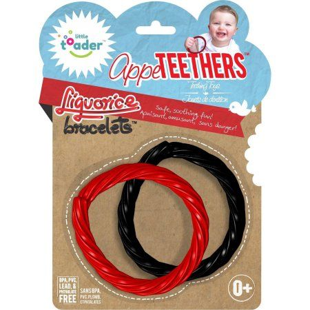 Little Toader AppeTEETHERS Teething Toys Liquorice Bracelets