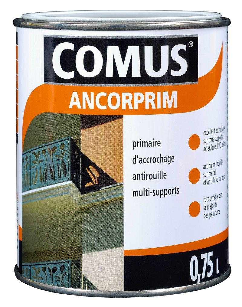 Ancorprim Comus Blanc 0 75l Primaire D Accrochage Universel Pour Metaux Et Supports Speciaux Pvc Verre Carrelage Peinture Antirouille Anti Rouille Primaire