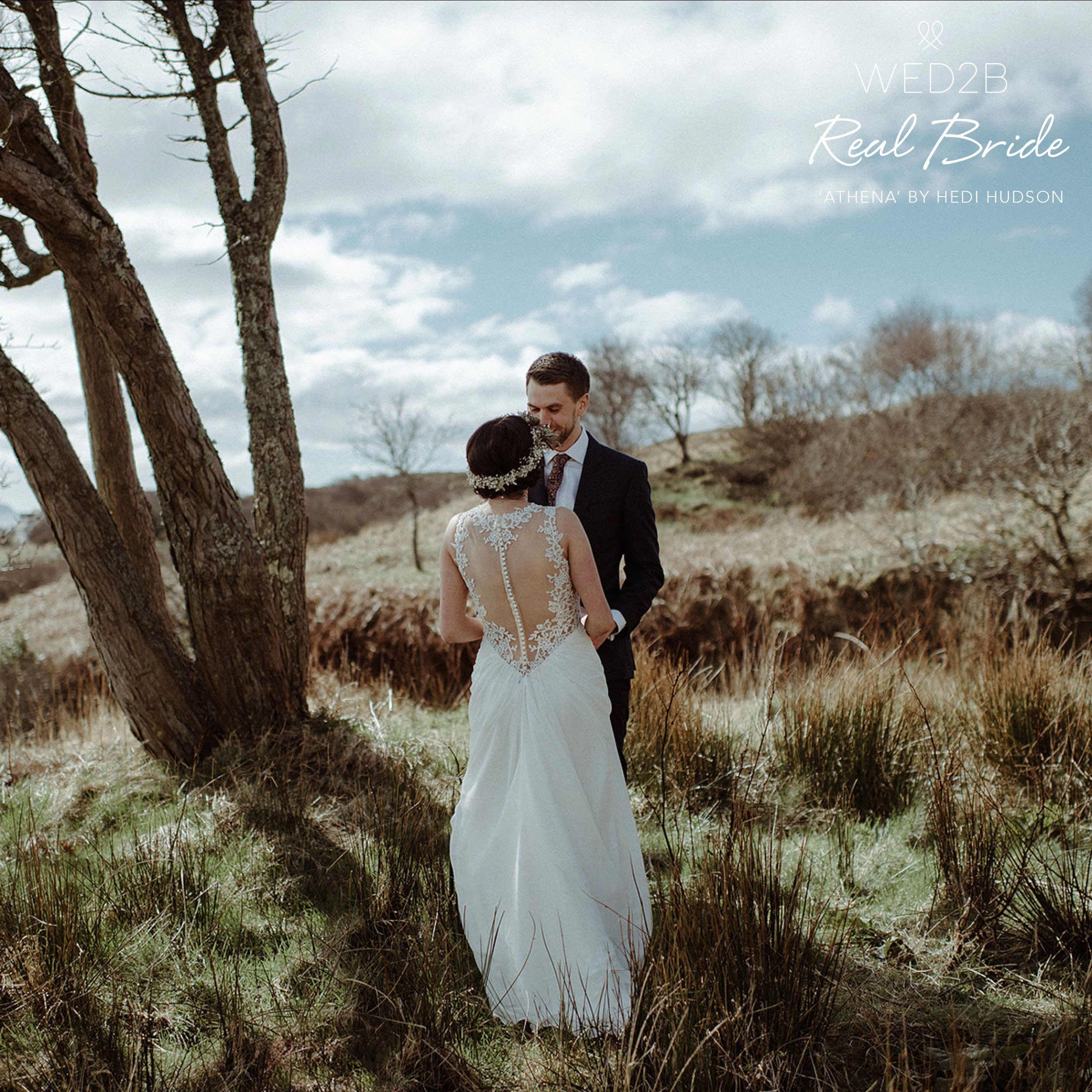 Real Brides Wed2b: Doesn't Real Bride Hayley Look Truly Beautiful In 'Athena