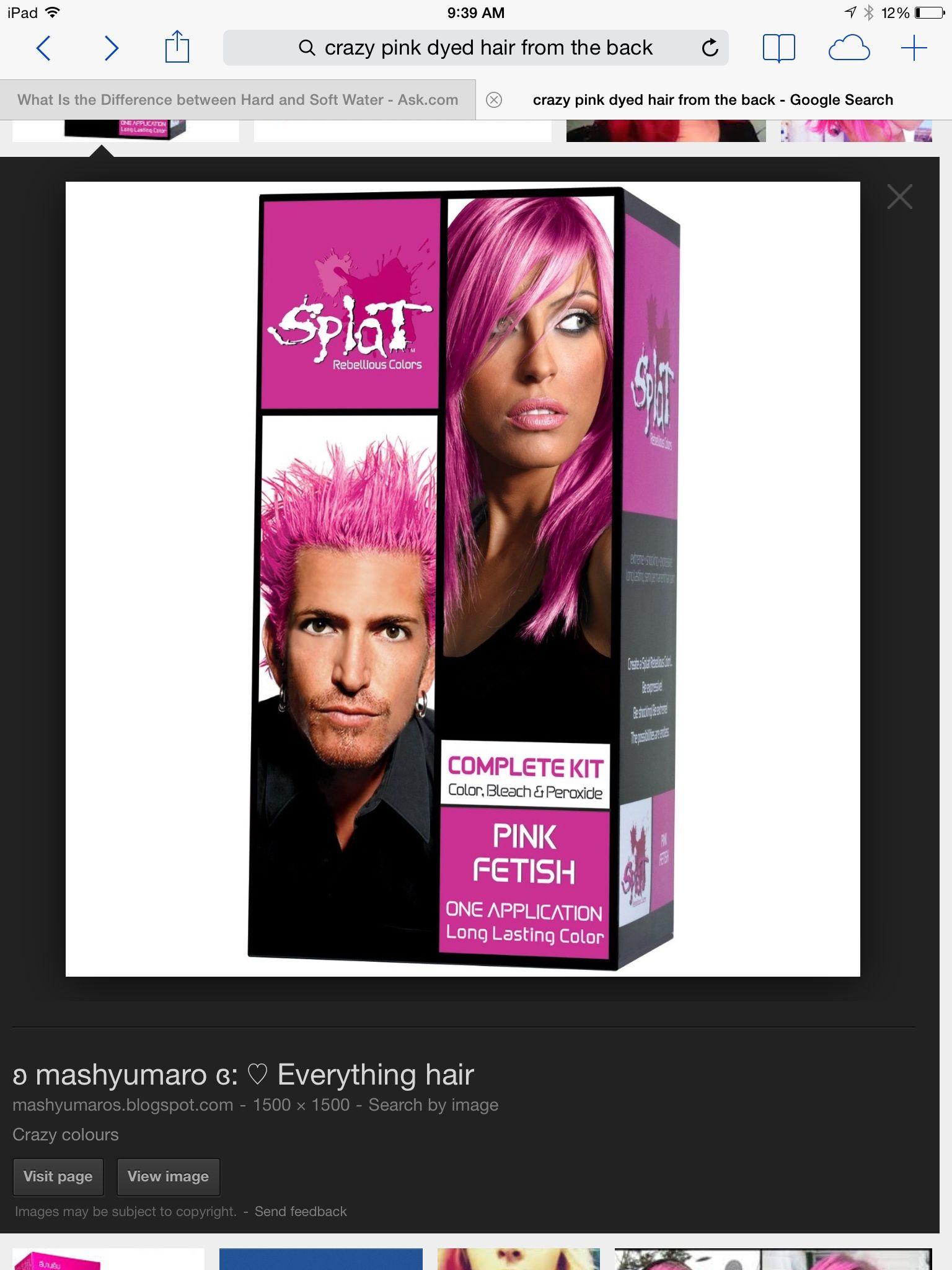 Pin By Caroline Cosgrove On Hair Splat Hair Color Splat Hair Dye Splat Hair Bleach