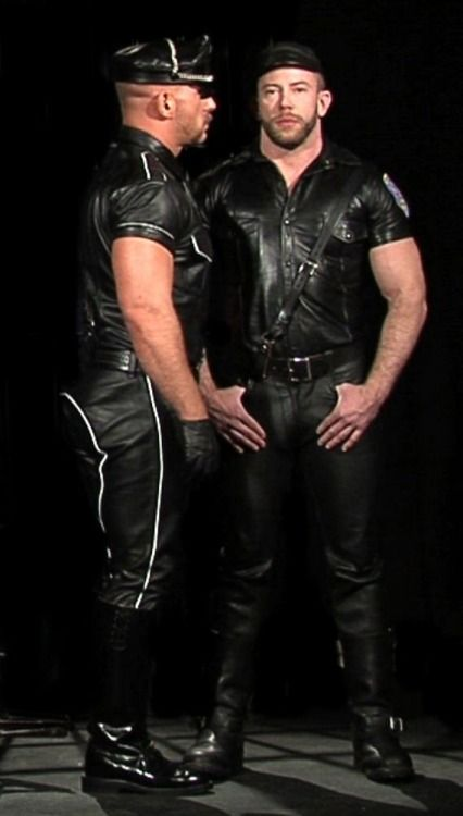 For Guys Into Leather, Follow Me At: Intheroughhouse
