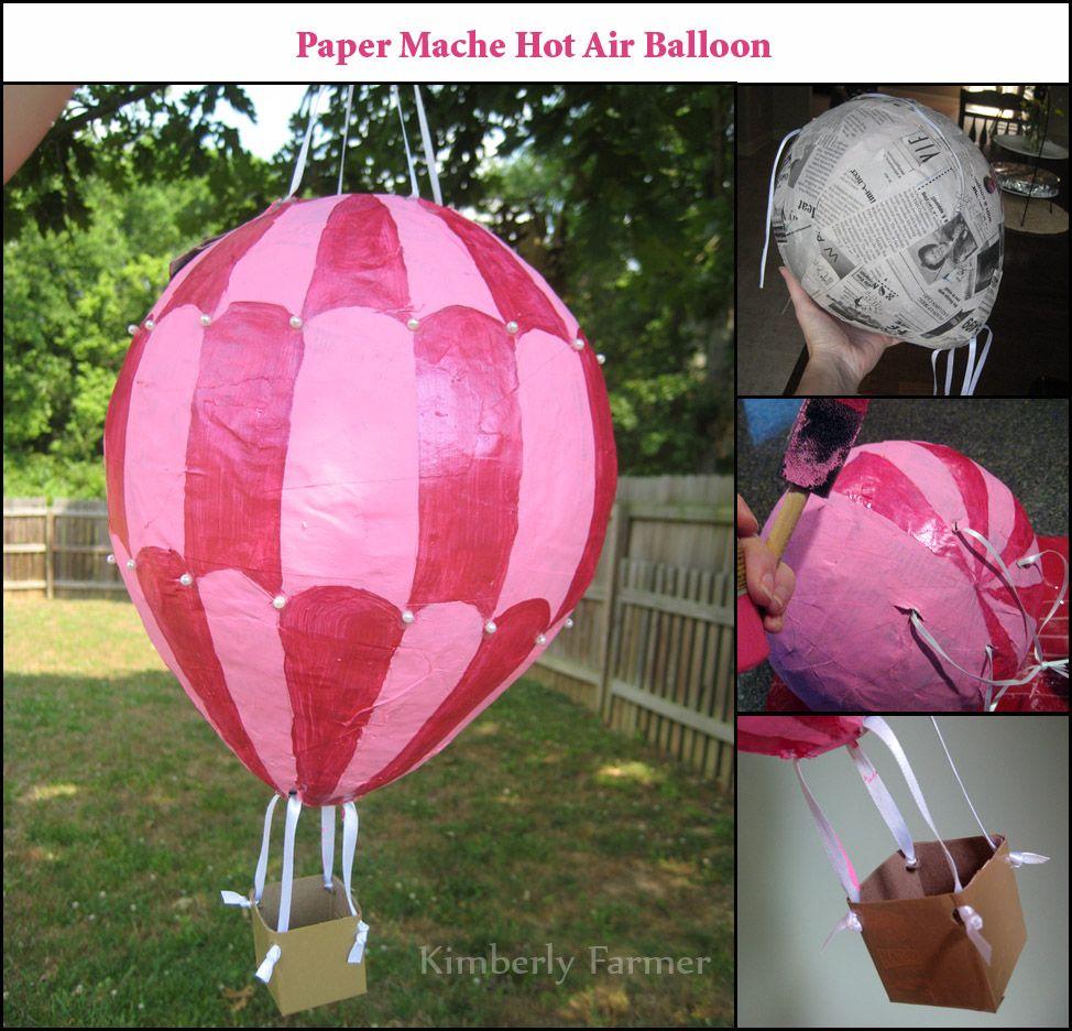 Paper mache hot air balloons mommyhood craft corner for Paper mache activities