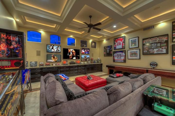 this is a huge game room that also features and indoor outdoor rh pinterest com House in a Room That Glows in the Dark Huge Game Big Mansion Game Rooms