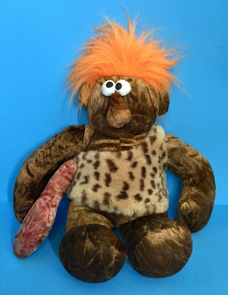 Chosun Caveman Plush Stuffed Animal Toy Fuzzy Orange Hair