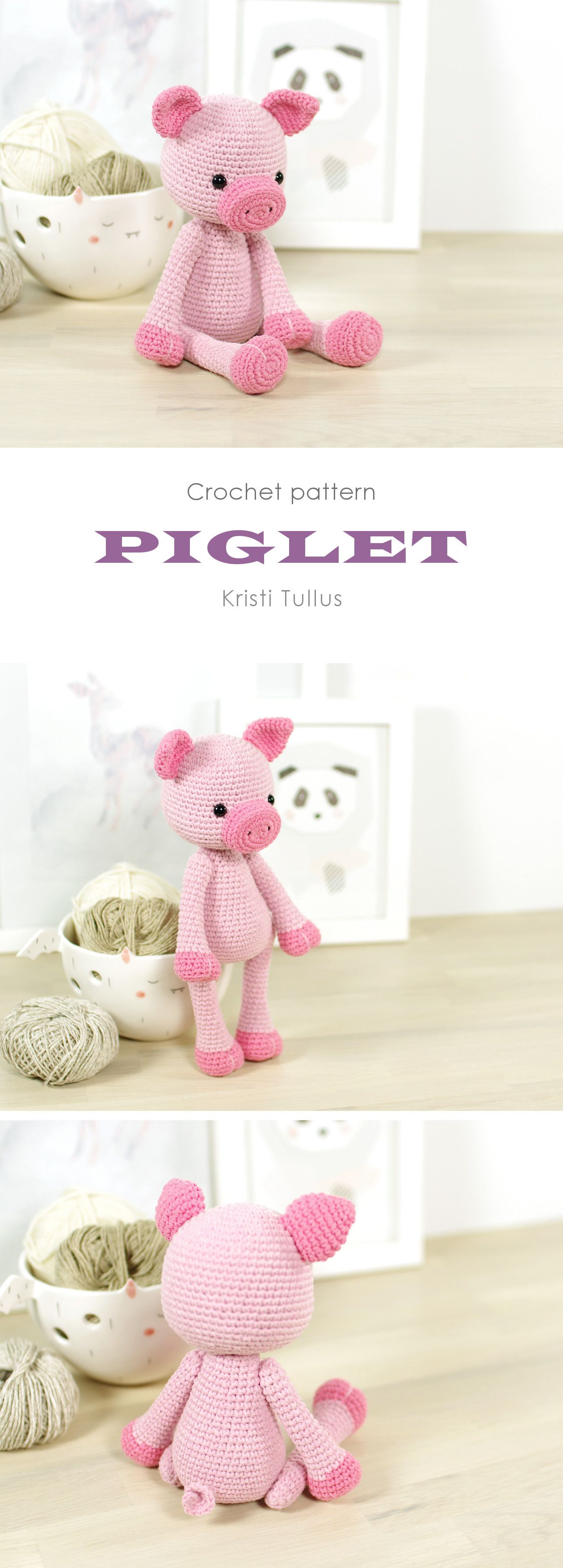 Crochet pattern: 4-way jointed pig // Kristi Tullus (spire.ee ...