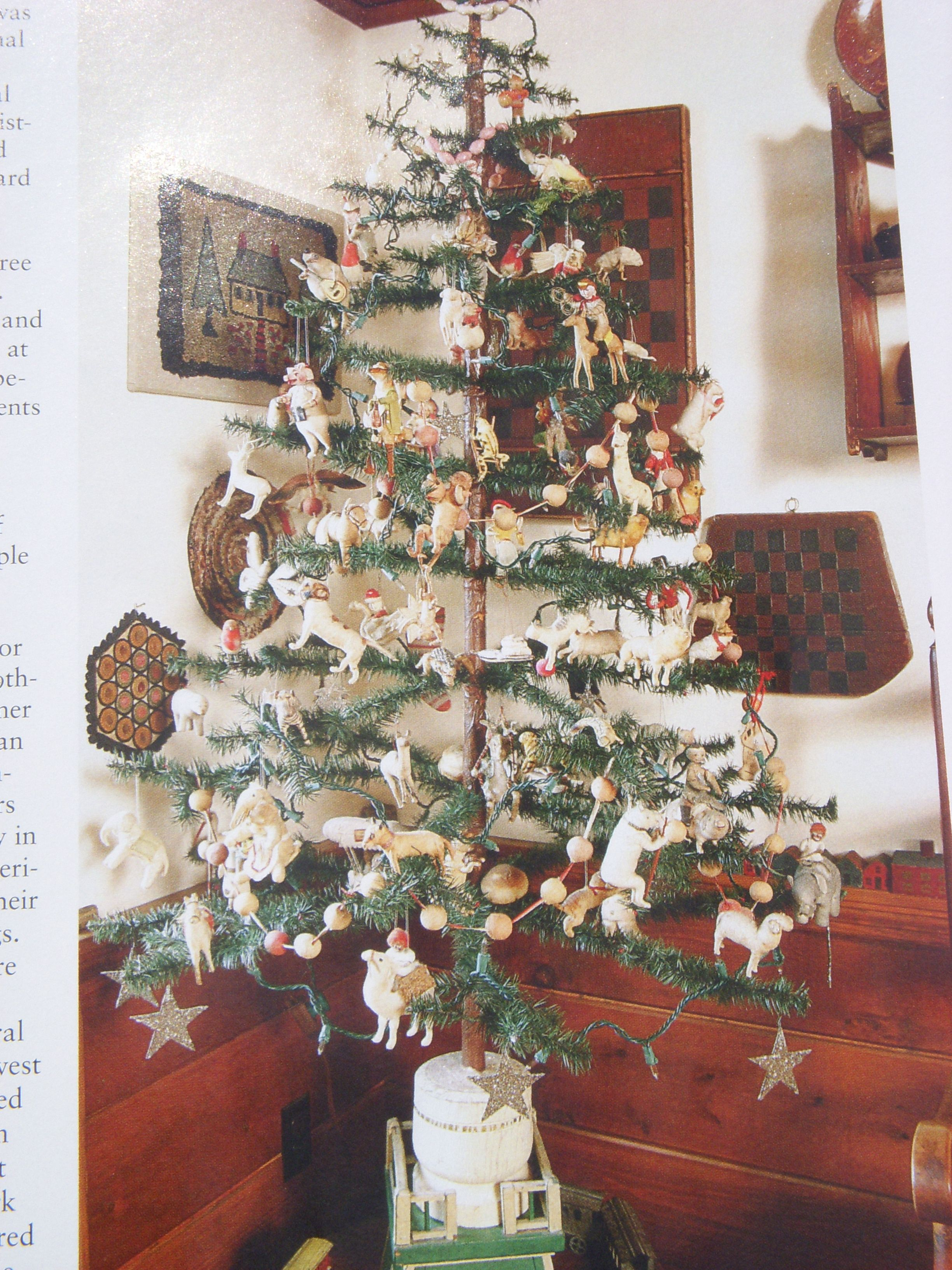 Feather Tree With Cotton Ornaments,Featured In Eal
