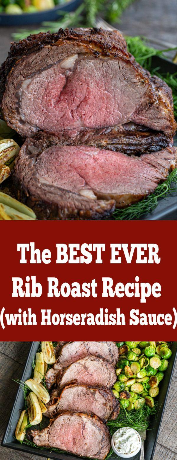 Rib Roast Recipe With Horseradish Sauce Momsdish In 2020 Rib Roast Recipe Rib Roast Roast Recipes