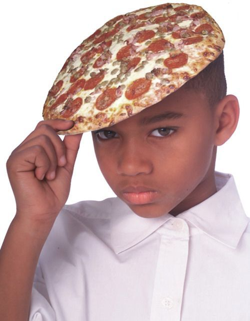 Literal pizza hat