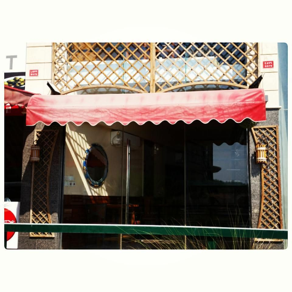 For Sale Red Awning Size 350x100 Good Condation Price 60 Bd للبيع مظلة حديد لون احمر مقاس 350x100 بحالة ممتازة جد Decor Home Decor Valance Curtains