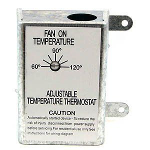 Attic Fan Thermostat Control By Nutone Inc 13 05 Automatically Activates Fan To Exhaust Heat From Attic For Use Thermostat Home Thermostat Attic Fan