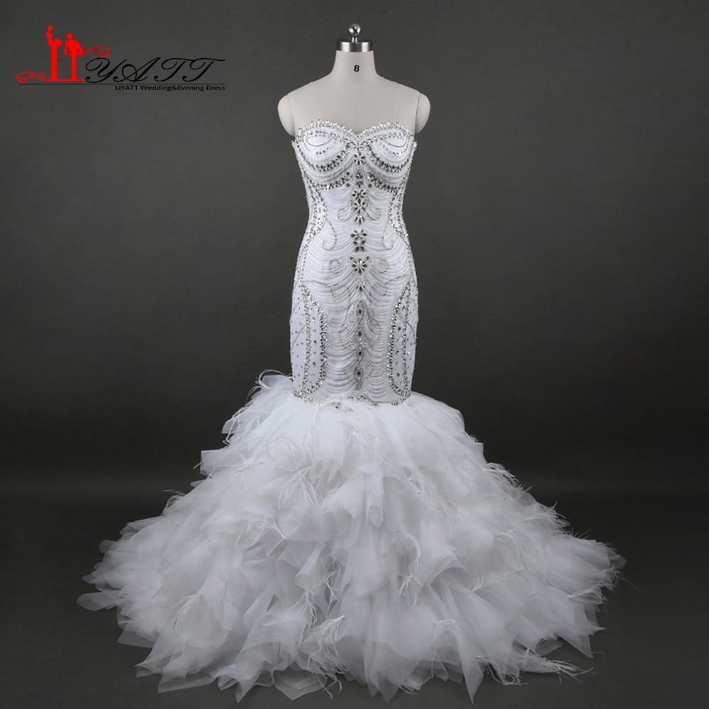 Click to buy ucuc luxury mermaid bridal wedding dresses plus size