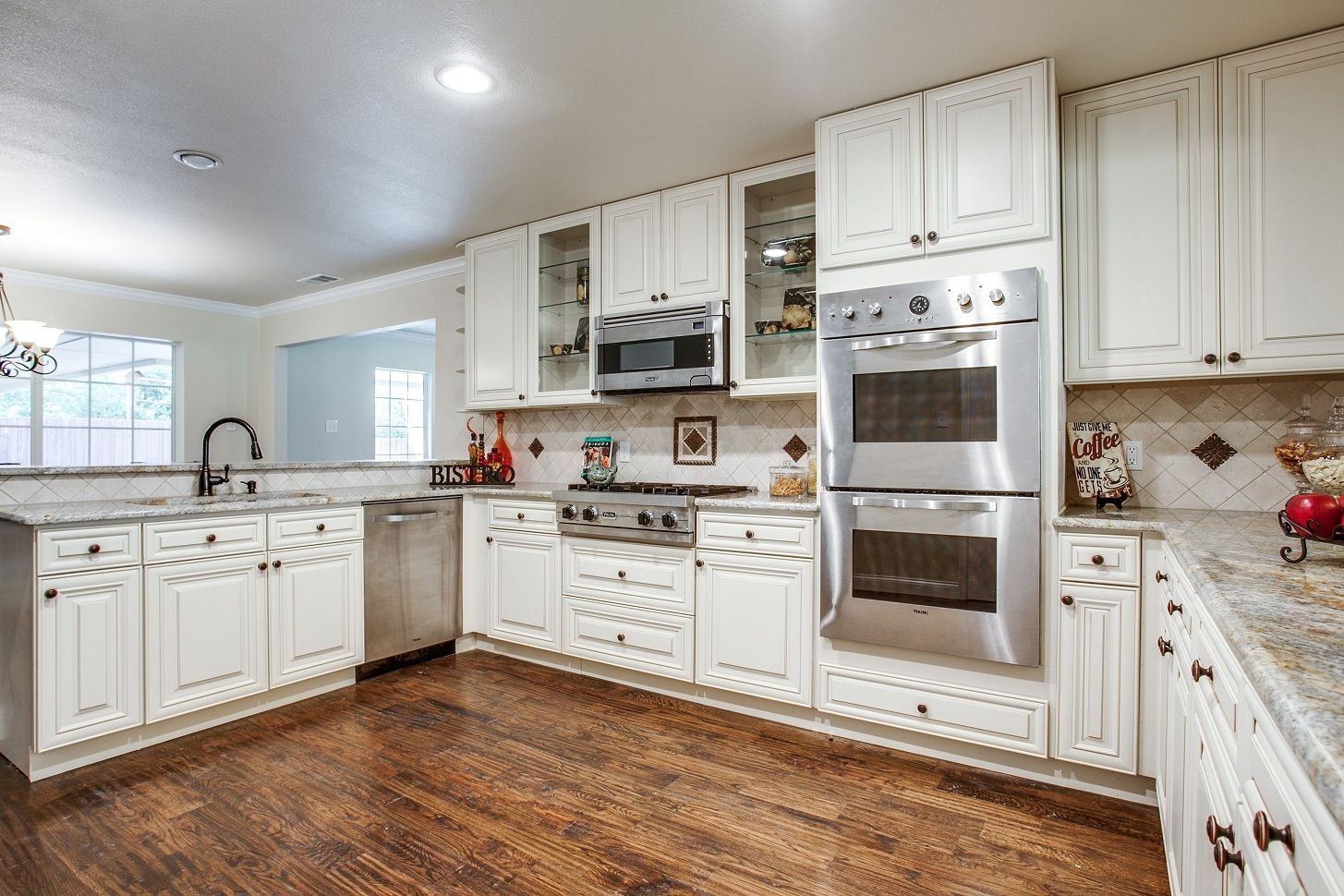 Off White Kitchen Black Appliances off white kitchen cabinets with white appliances | basement