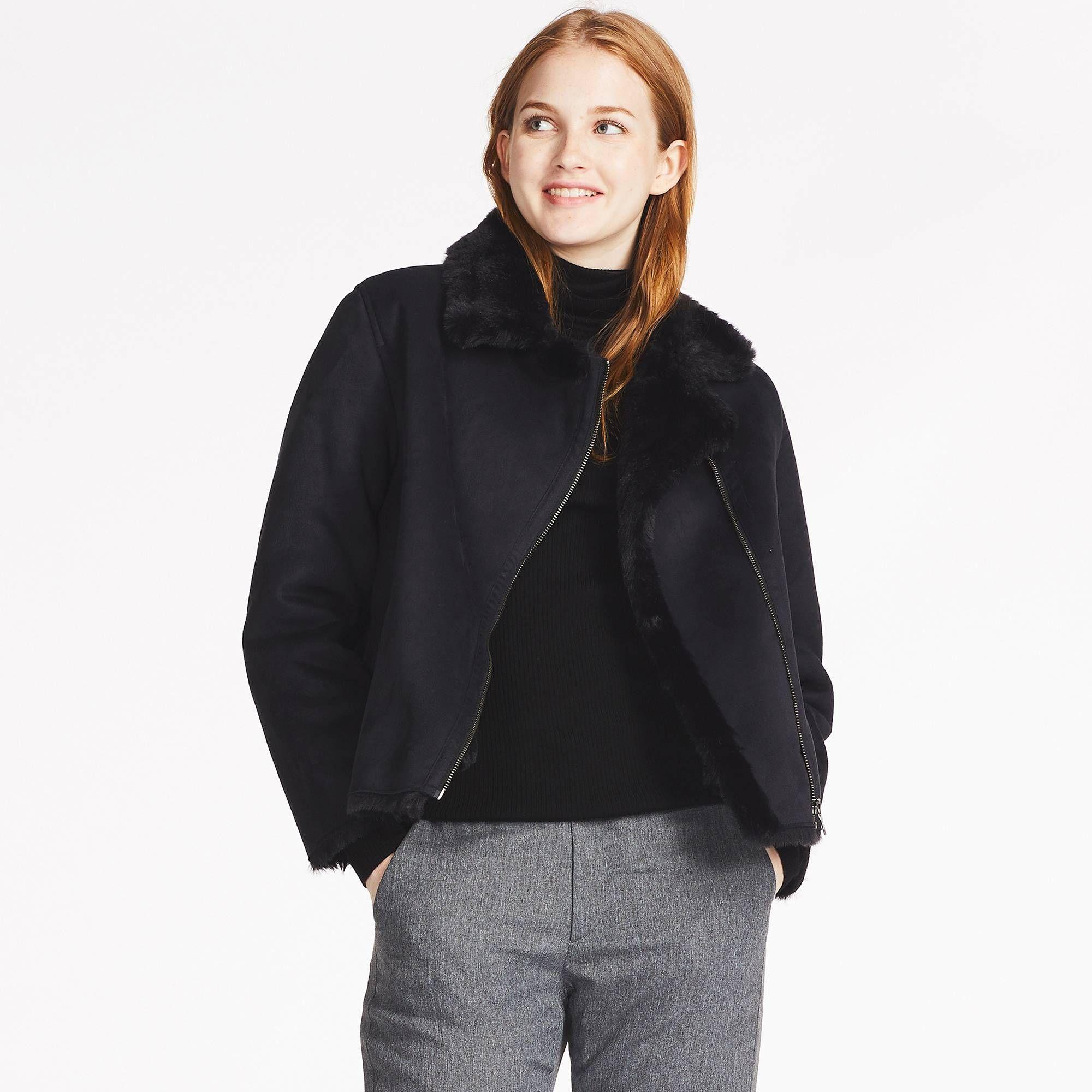 Women faux shearling jacket | Faux shearling jacket, Shearling ...