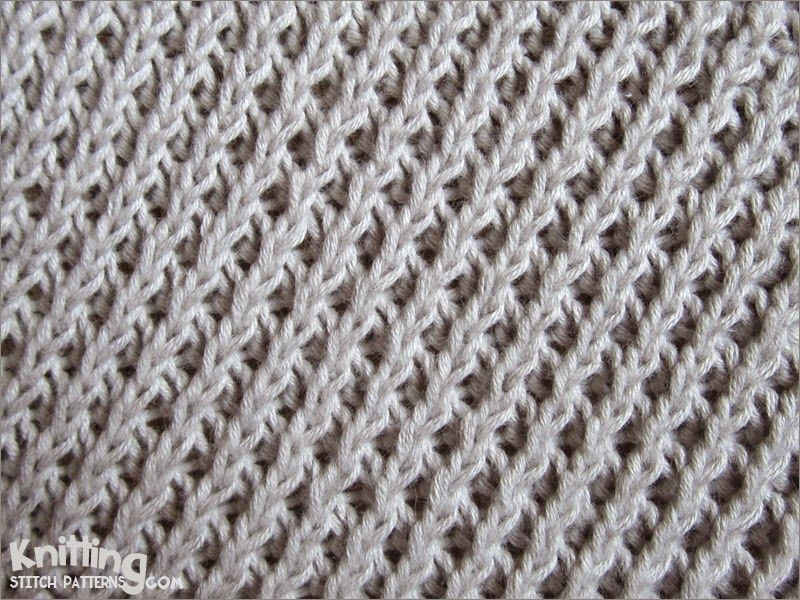 Hand Knitting Techniques : Right diagonal stitch easy to knit and remember