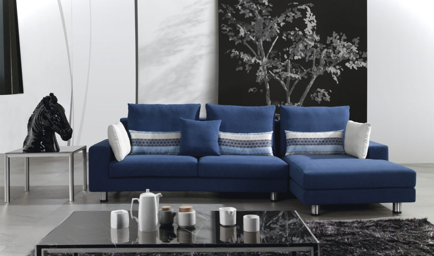 Stylish Navy Blue Sofa Bed Navy Blue Couch Ideas Sofa Amp Couch Designs  With Navy Sofa