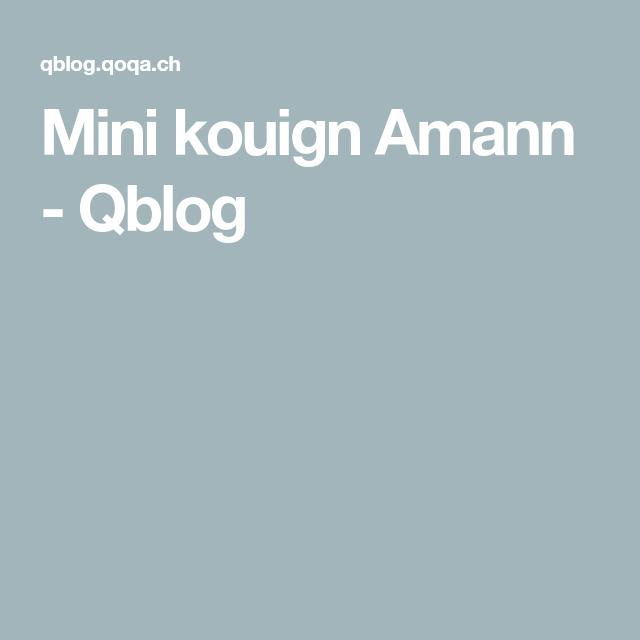 Mini kouign Amann - Qblog #kouignamannrecette
