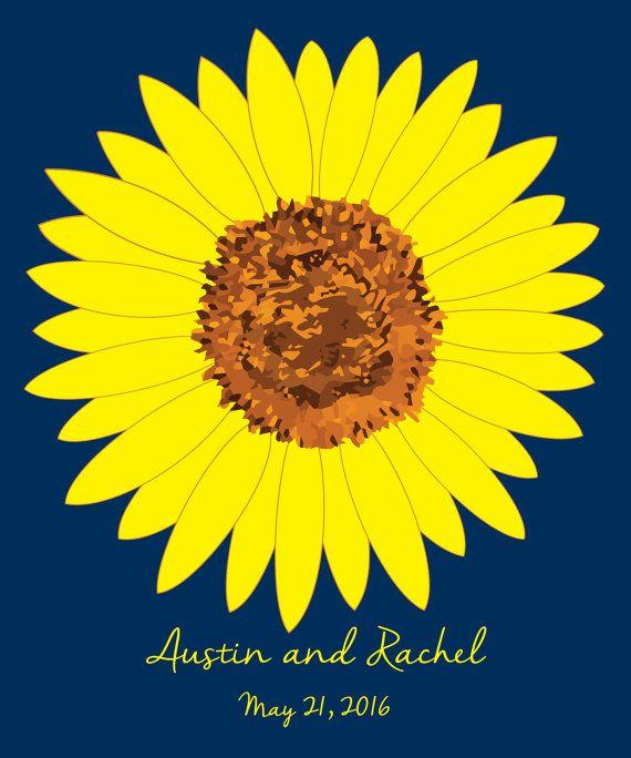 Sunflower Wedding Guest Book Alternatives Bridal Shower Guest Etsy In 2020 Bridal Shower Guest Book Bridal Shower Guest Bridal Shower Guest Book Alternative