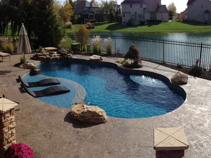 Trilogy Pools Large Modern Freeform Inground Fiberglass Gemini Pools Backyard Inground Backyard Pool Landscaping Fiberglass Pools
