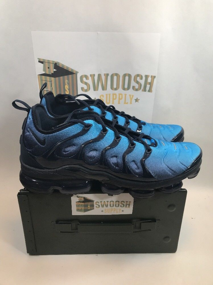 Nike Air VaporMax Plus Obsidian Photo Blue Black 924453 401 Size 13 Vapor  Max  Nike  RunningCrossTraining 5ac77dd03