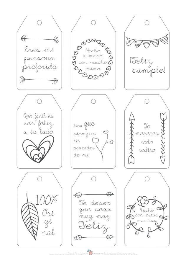 Descargable etiquetas | Etiquetas, Nuevas y Regalitos