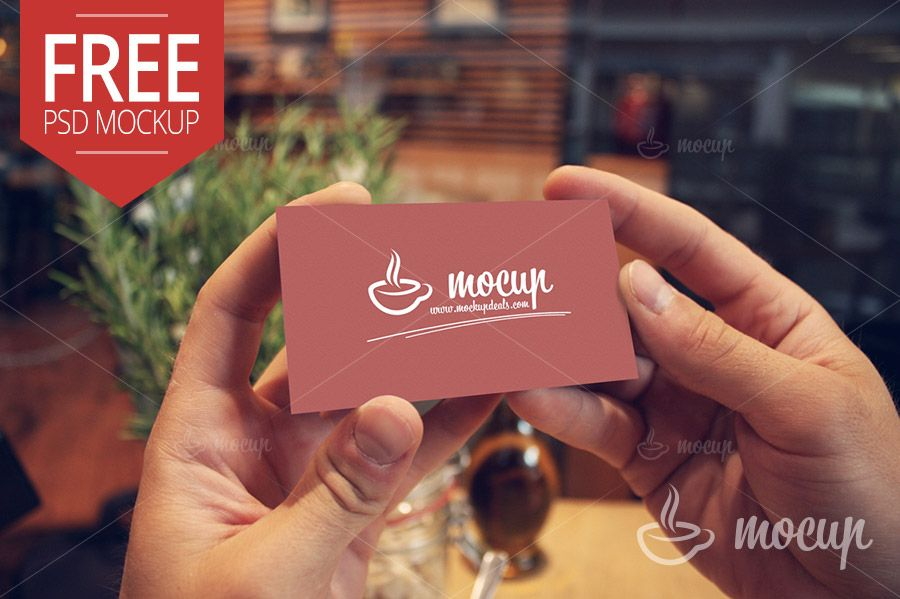 A photorealistic free PSD mockup Business card. Real easy to edit ...