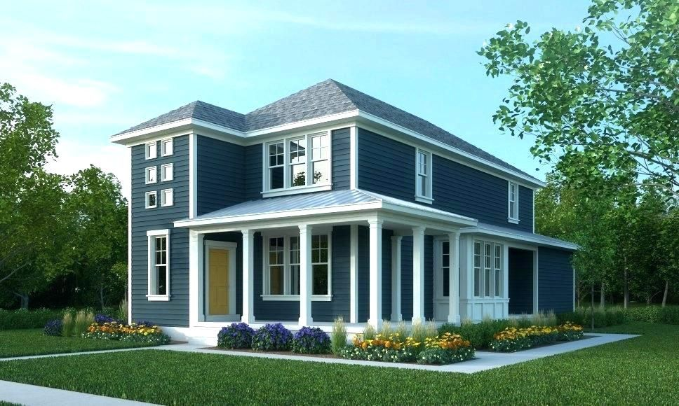 Roof And House Color Combinations Blue Houses With White Trim