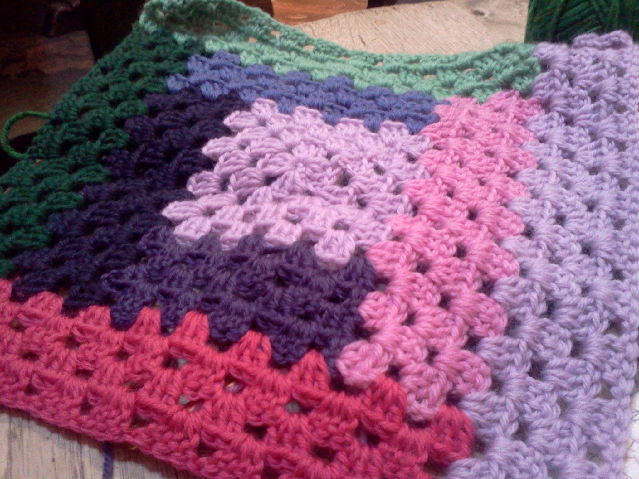 Bonito Granny Ondulación Patrón De Crochet Afghan Composición ...