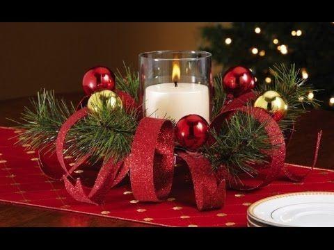 Diy como hacer un centro de mesa para navidad muy facil for Centros de mesa navidenos elegantes