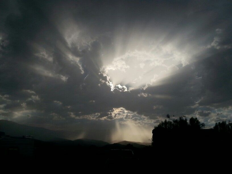 Jacob's ladder after the rain in Cottonwood,  AZ