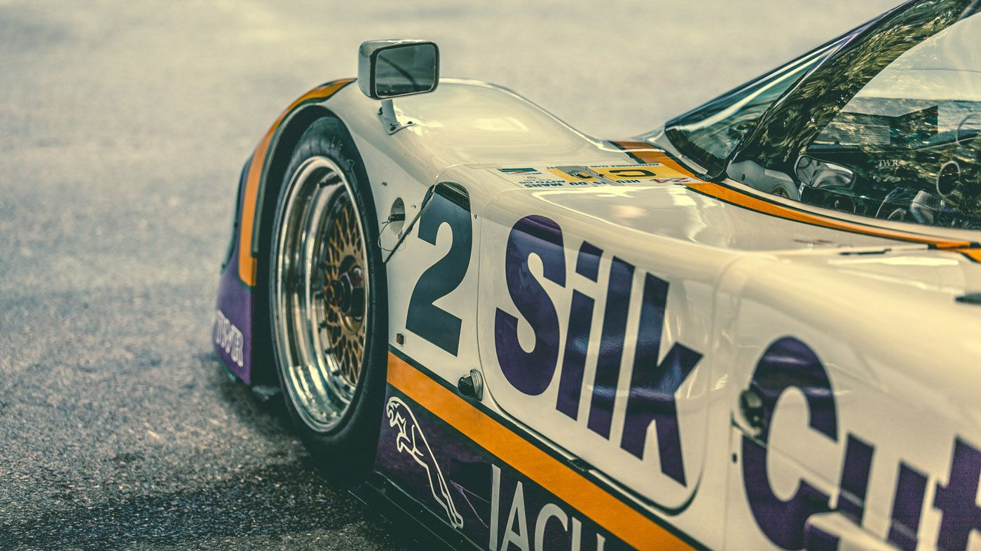 Silk Cut Jaguar prepared by TWR for Le Mans. Photography by Peter Aylward