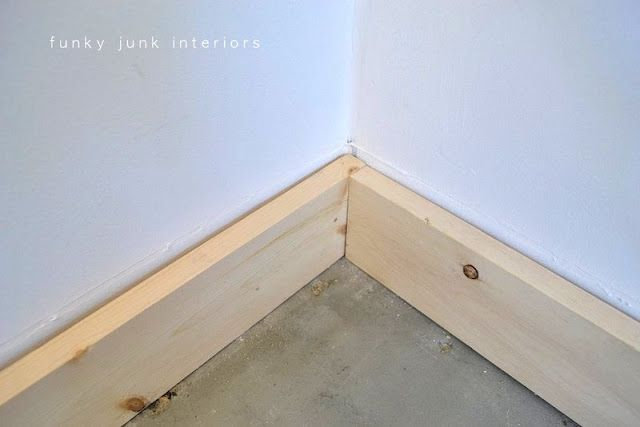 Funky Junk Interiors Baseboards Cheap Crown Molding Diy Wood Floors