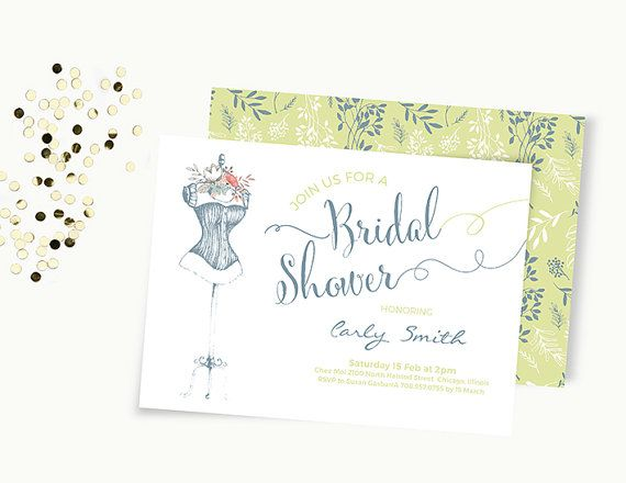 Word Template floral Bridal shower Invitation Editable Word - invitation word template