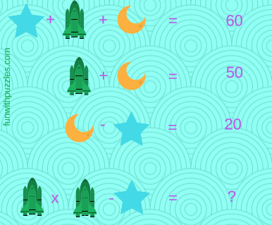 Fun Math Equations Riddles in Pictures for Kids with answers ...