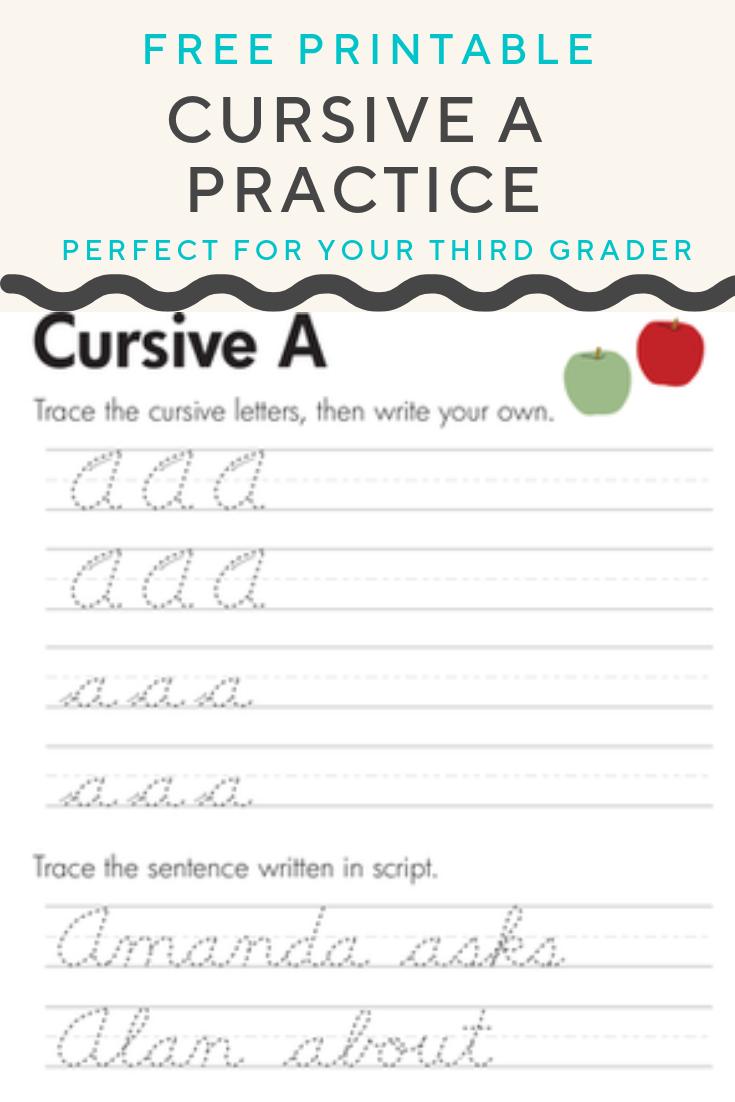 Cursive A Worksheet Education Com Cursive Handwriting Practice Cursive Writing Practice Sheets Cursive Writing Worksheets [ 1102 x 735 Pixel ]