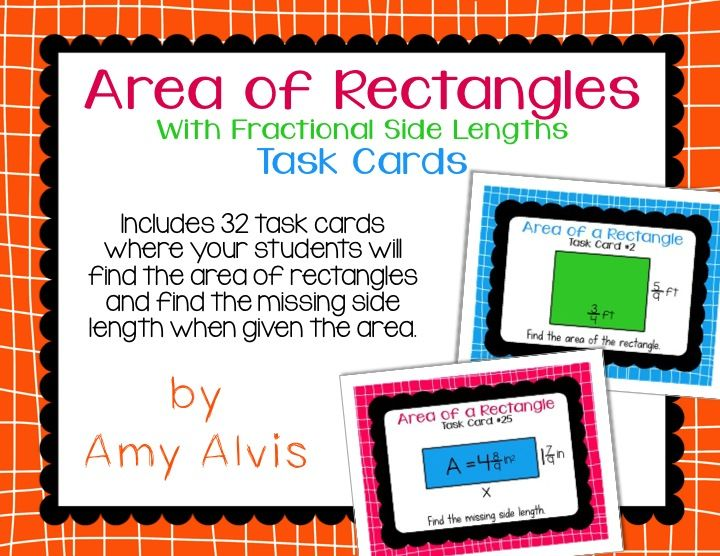 how to find the area of a rectangle with fractions