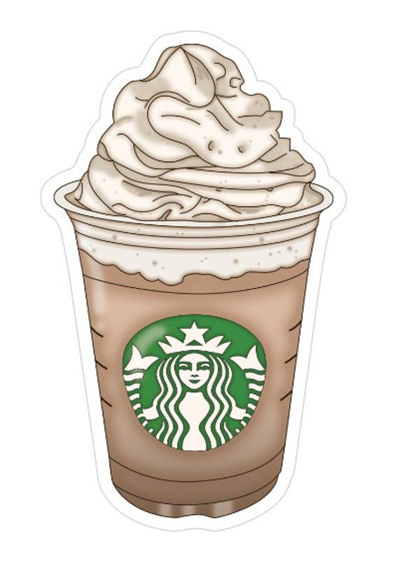 STARBUCKS FRAPP DIECUT | coffee cup, iced coffee, starbucks, to go cup, frapp, frappuccino | planner accessories | tn, traveler's notebook