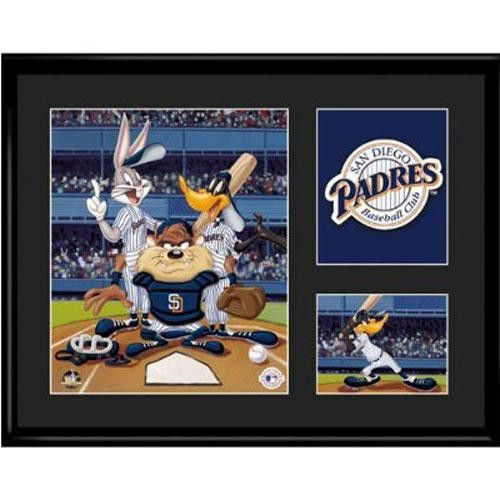 San Diego Padres MLB Limited Edition Lithograph Featuring The Looney Tunes As San Diego Padres