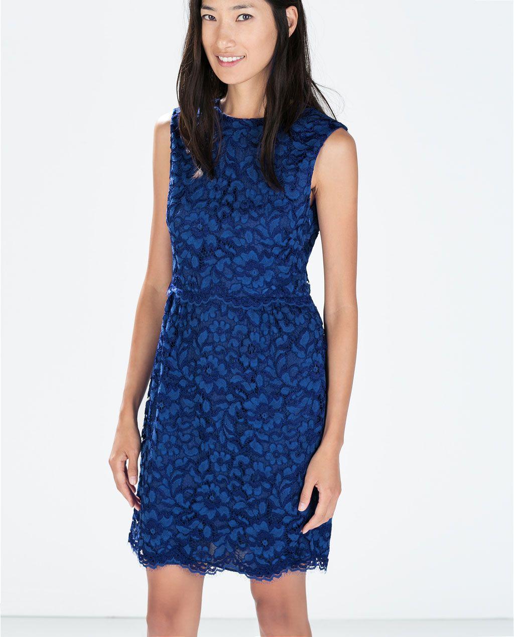 LACE DRESS WITH WAIST SEAM-Printed-Dresses-WOMAN | ZARA United ...