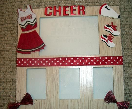Cheerleading 4 slot Picture frame by FancifulFrames on Etsy, $8.50 ...