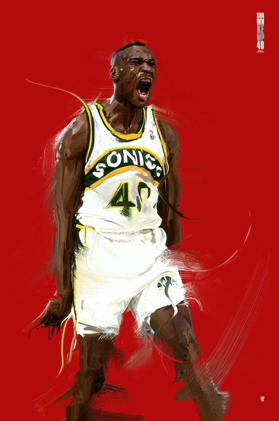 657cc57d77be Shawn Kemp  Reign Man  Digital Painting