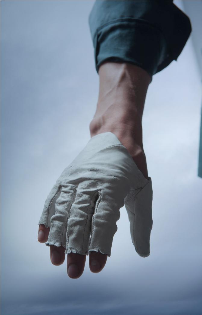 Blue, Small Glove Guys Half Finger Gloves